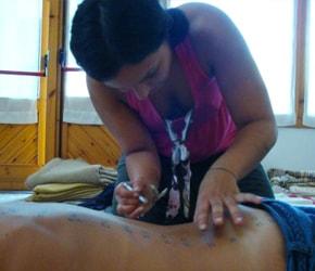 Lara Cavallero al centro internazionale di agopuntura di Nanchino